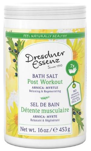 Post Workout Bath Salt (Arnica-Myrtle) 16oz - relaxing, regenerating.