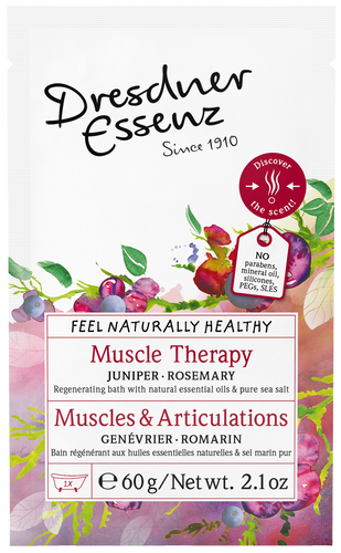 Muscle Therapy Bath Salt - regenerative bath salt with natural essential juniper berry, rosemary and wintergreen oil.