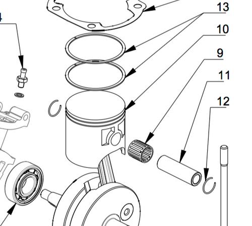 M010 Piston Kit | Vittorazzi Moster 185