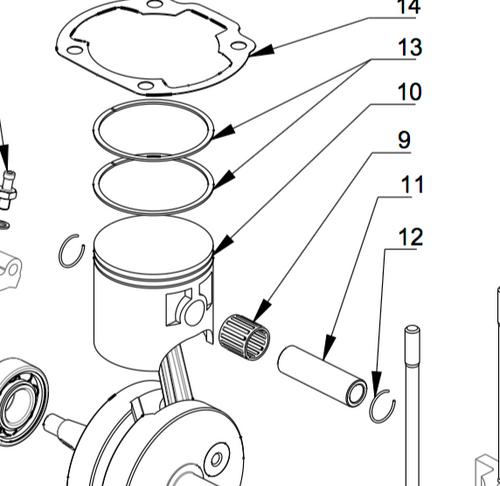 M009 Piston Pin Needle Bearing | Vittorazi Moster 185