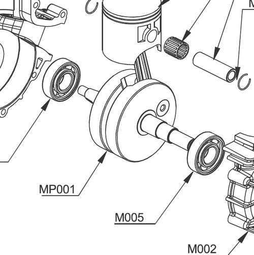 M005 Set of 2 - Carter Bearings  | Vittorazi Moster 185