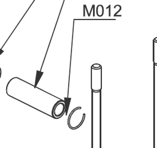 M012 Circlip for Piston Pin Set of 2 | Vittorazi Moster 185