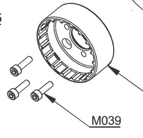 M039 Bolt 5 x 16mm   Vittorazi Moster 185
