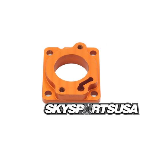 AT084 Carburetor Flange - Orange   Vittorazi Atom 80