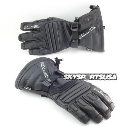 Torch Heated leather Gloves by Katahdin | SkySportsUSA