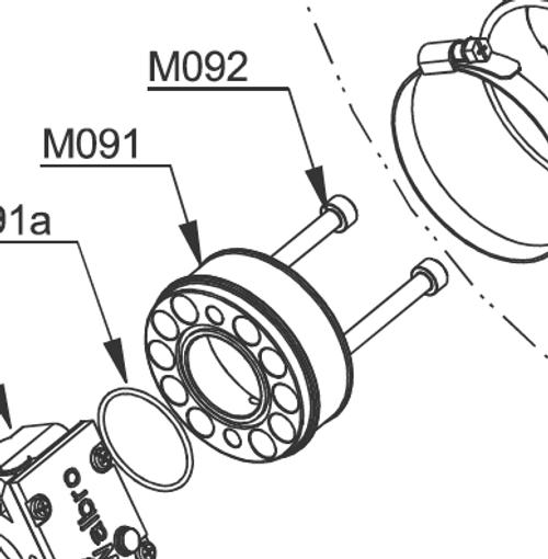 MF092 Titanium Set of 2 Bolts  M6 x 60mm Tcei | Vittorazi Moster Factory