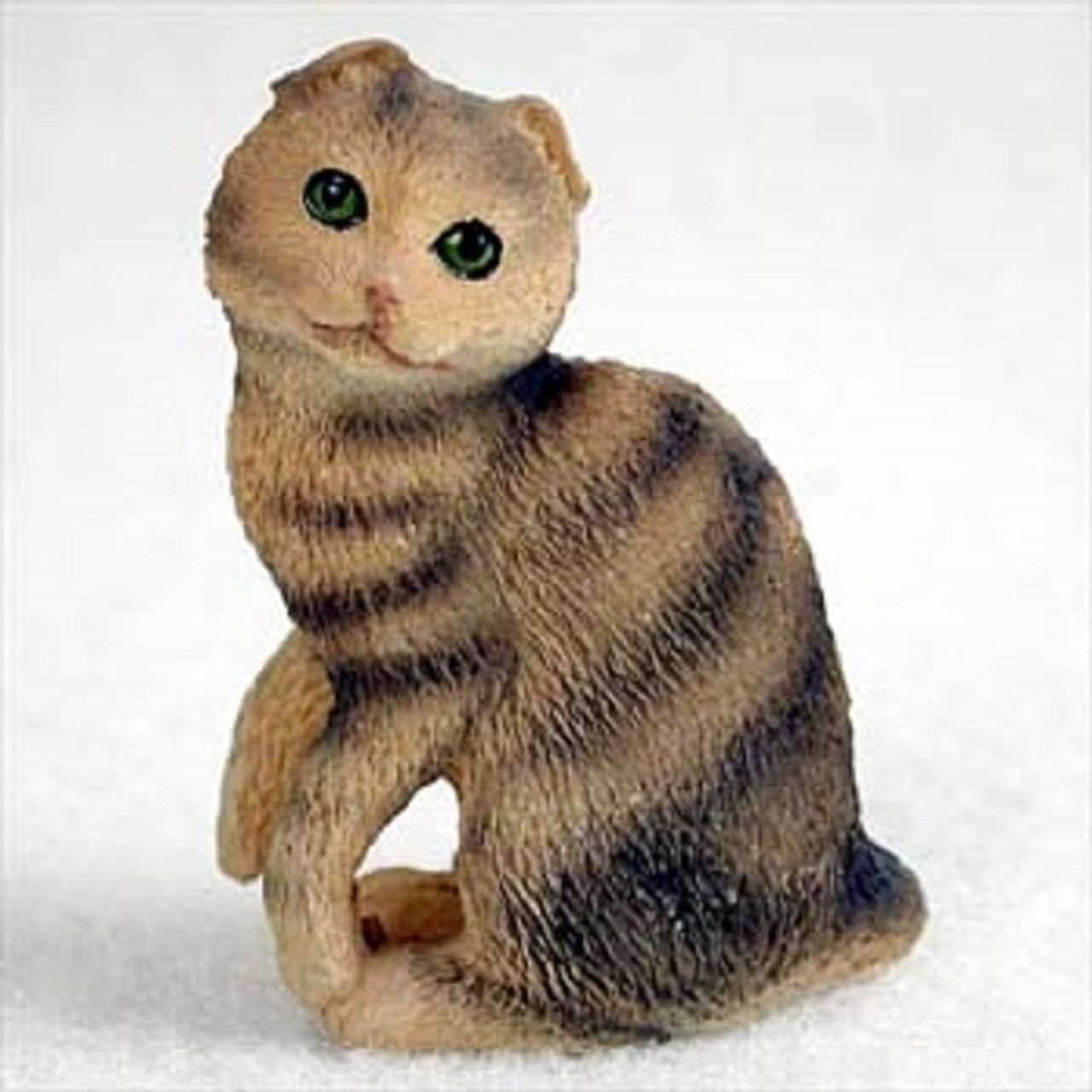 Brown Tabby Scottish Fold Figurines and Collectibles