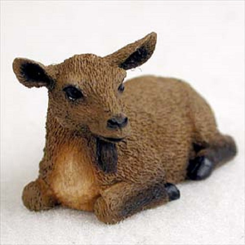 small brown goat figurine