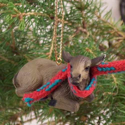 elk cow holiday ornament