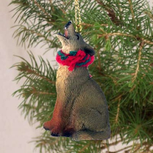 coyote holiday ornament