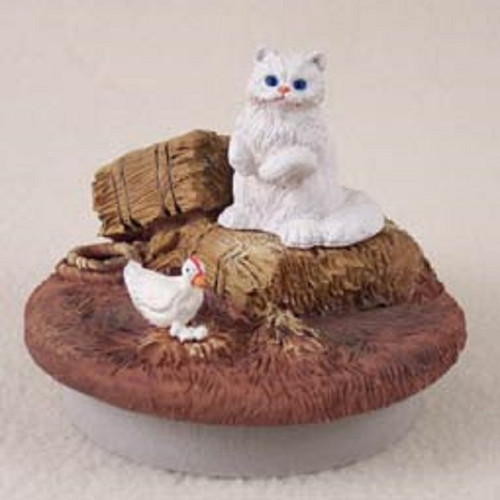 white persian candle topper