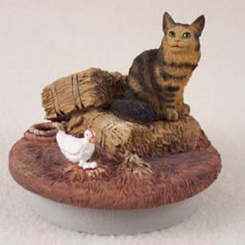 brown maine coon candle topper