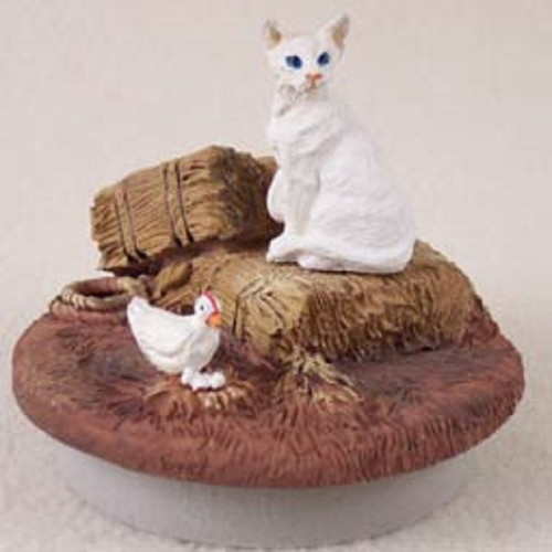 white oriental candle topper