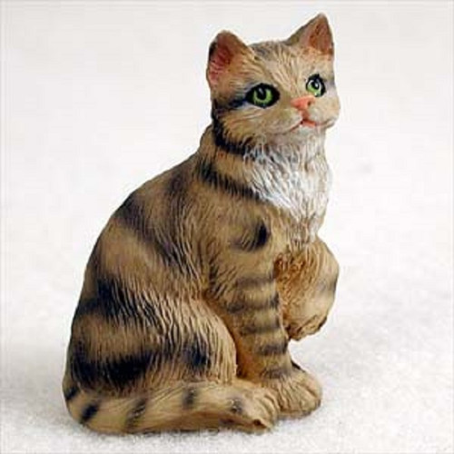 small brown shorthaired cat figurine