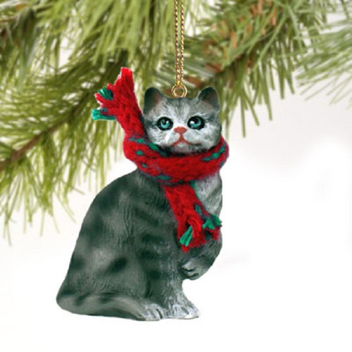 silver shorthaired themed ornament