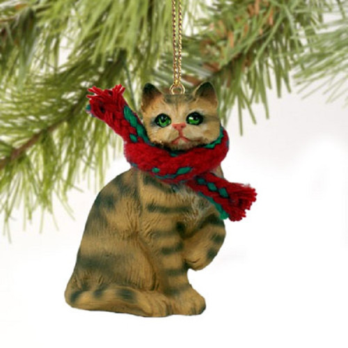 brown shorthaired themed ornament