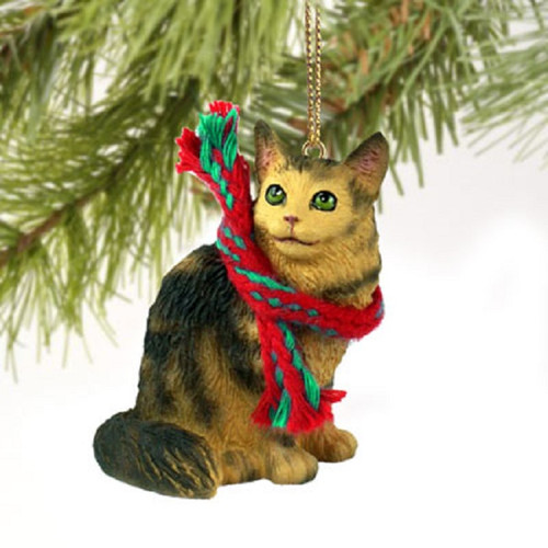 maine coon cat themed ornament