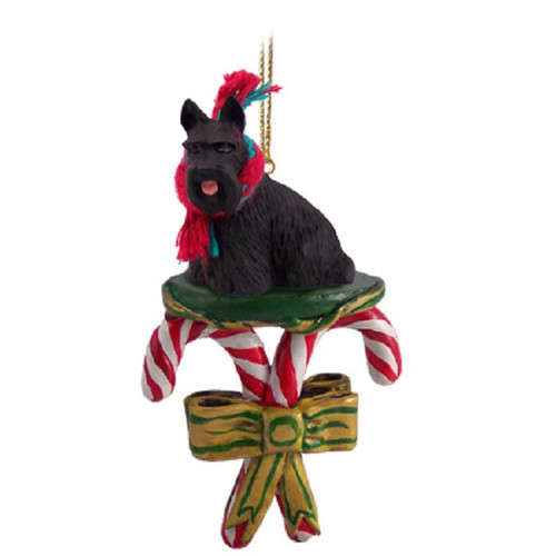 scottish terrier candy cane