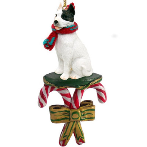 white pit bull terrier candy cane