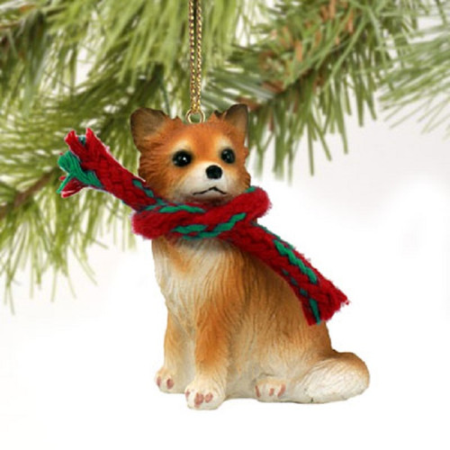 chihuahua longhaired ornament