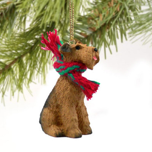 airedale christmas dog ornament