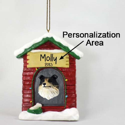 collie tricolor dog house