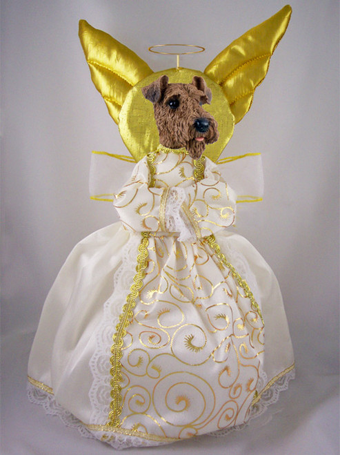 airedale dog angel tree topper