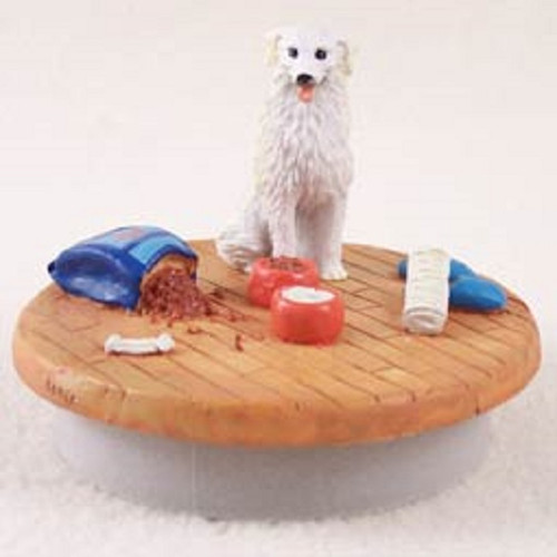 kuvasz dog breed home candle topper