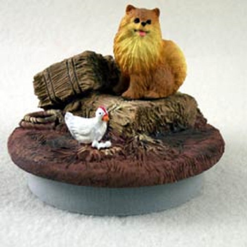 pomeranian red dog Farm candle topper
