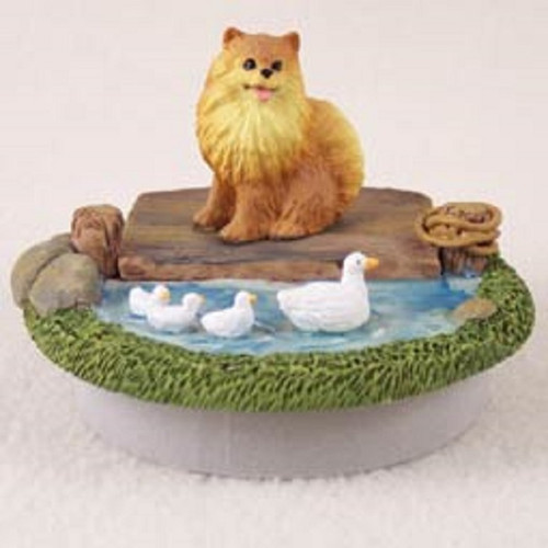 pomeranian red dog Lake candle topper