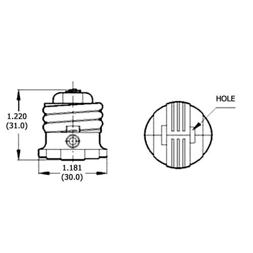 LH0458 Two prong outlet from E26/E27 medium base lamp holder/socket converter