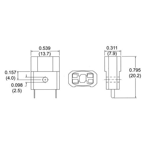 LH0512 Wedge base incandescent lamp holder/socket with solder leg connectors