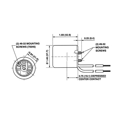"""LH0522 E26/E27, 4kv pulse rated HID lamp holder/socket with captive screws and 9"""" leads"""