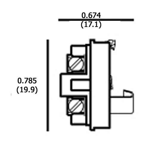LH0573 E12 candelabra insert lamp holder/socket part of three part system with set screw terminals