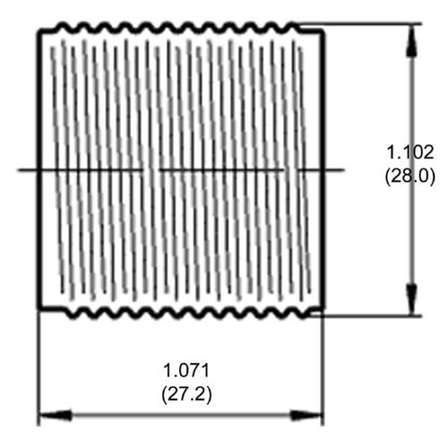 LH0575 E12 candelabra threaded barrel lamp holder/socket part of three part system