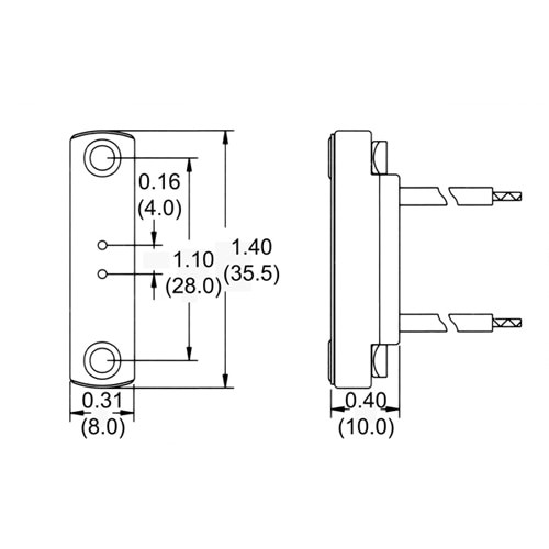"""LH0612 G4 bipin halogen lamp holder/socket with two hole mounting and 12"""" leads"""