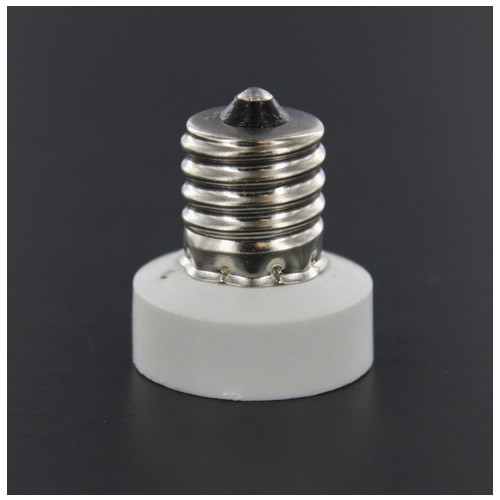 LH0808 Converts an E17 intermediate base lamp holder/socket to an E11 mini-candelabra base lamp holder/socket