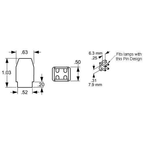 LH0709 G10q, T8 circline lamp holder/socket with push fit mounting