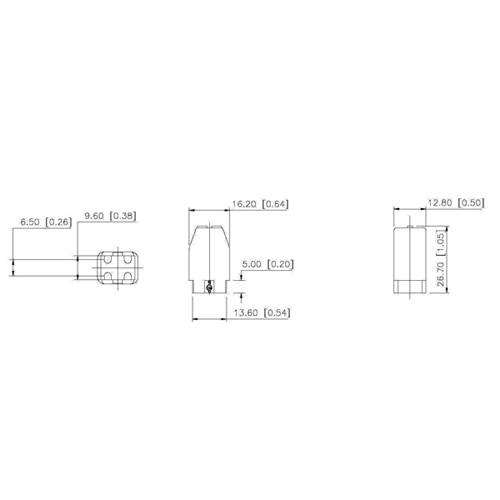 LH0692 Unshunted, G10q circline lamp holder/socket with push fit mounting