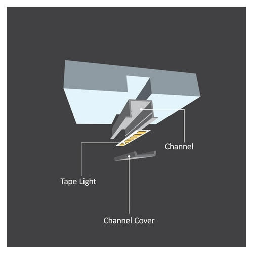 "Diode LED DI-CPCHA-SLR48 48"" Chromapath LED Tape Light SLIM Recessed Aluminum Channel Bundle"