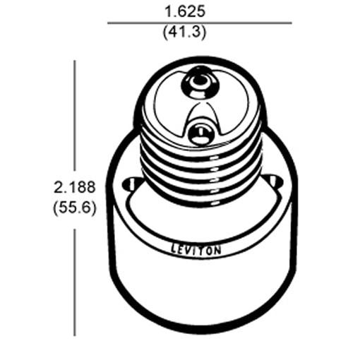 """LH0291 E26/E27 medium base lamp holder/socket extender, extends lamp approximately 1 1/4"""""""