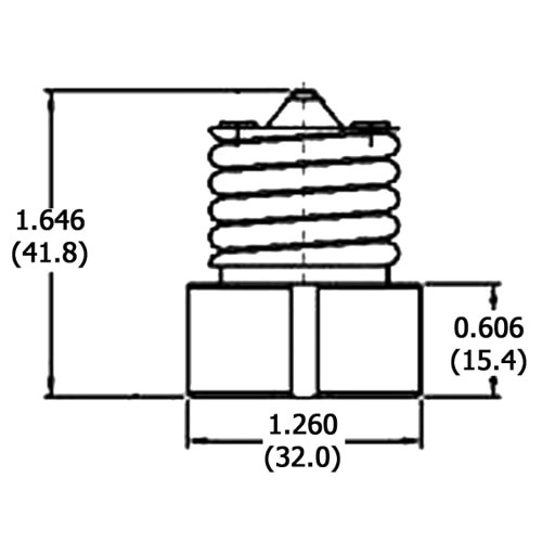 LH0457 Converts an E26/E27 medium base lamp holder/socket to a GU10/GZ10 Turn Lock lamp holder/socket
