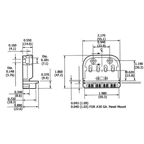 LH0002 Unshunted, 4 pin CFL 2G11 base slide on or screw mount lamp holder/socket