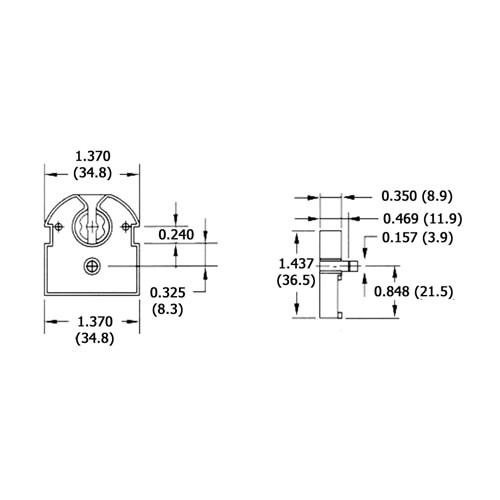 LH0003 Linear fluorescent medium bipin polycarbonate lamp holder/socket