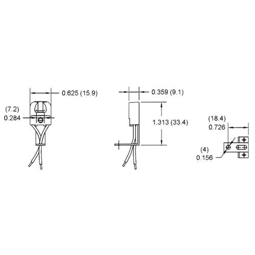 LH0011 Linear fluorescent T5 miniature bipin polycarbonate lamp holder/socket