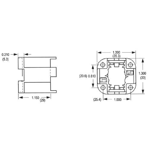 LH0172 2 pin 26w or 32w, G24d-3, GX24d-3 four hole mount CFL lamp holder/socket