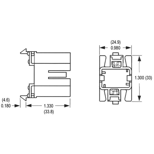 LH0182 5,7,9 & 11w G23, G23-2 2 pin CFL lamp holder/socket with snap in vertical mounting