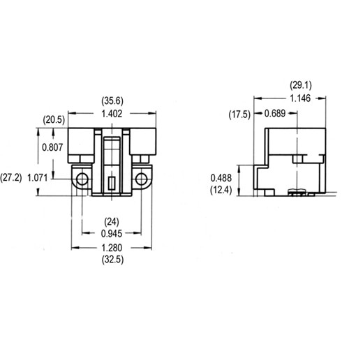 LH0183 5,7,9 & 11w G23, G23-2 2 pin CFL lamp holder/socket with two hole horizontal mount