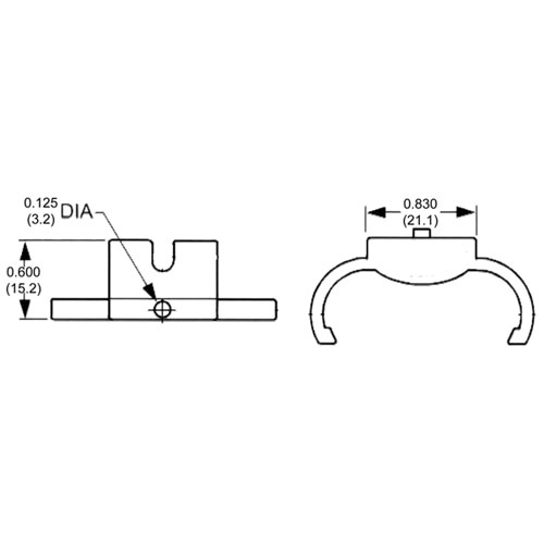 LH0268 2G11 4pin CFL lamp holder horizontal support with screw down mounting