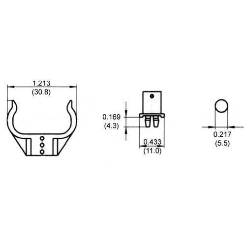 LH0329 G23, GX23, 2G7, 2GX7 base CFL lamp support with adjusted round foot mounting